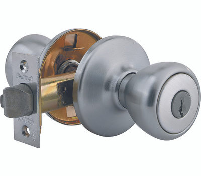 Kwikset 400T 26D CP K6 Tylo Keyed Entry Lockset Satin Chrome