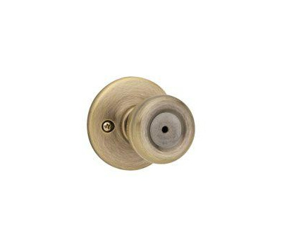 Kwikset 300T 5 RCL RCS BX Tylo Bed And Bath Privacy Lockset Antique Brass