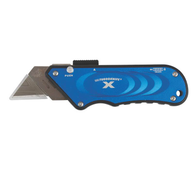 Olympia Tools 33-134 Turbo Knife Retractable Utility Knife Blue