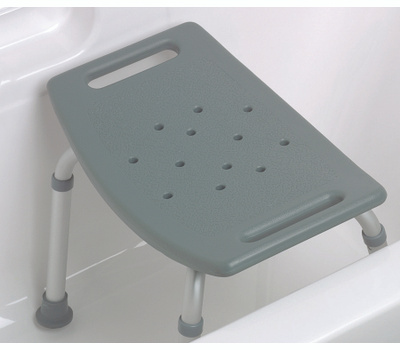 Medline MDS89740KD Bath Benck No Back Gray
