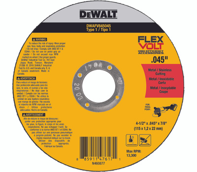 DeWalt DWAFV845045 Cutting Wheel 4.5X.045X7/8 T1