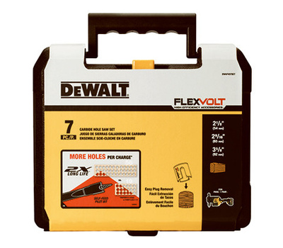 DeWalt DWAFV07SET Hole Saw Wood Carbide 7Pc Kit