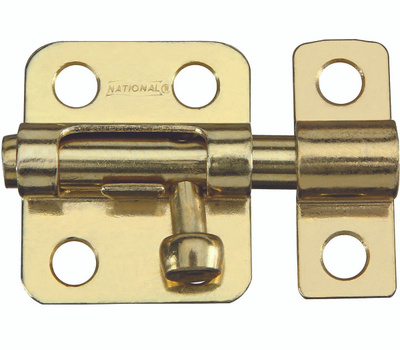 National Hardware S151-270 N151-266 Stanley 2 Inch Bright Brass Window Barrel Bolt