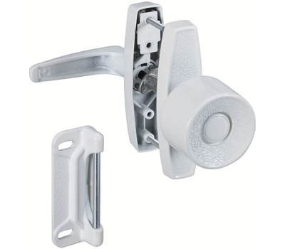 National Hardware S748-260 N212-993 Stanley Universal Door Latch Knob And Lever White