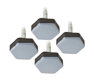 National Hardware S845-562 Stanley Screw-On Appliance Furniture Sliders 1-1/2 Inch Gray 4 Pack