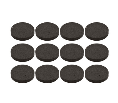 National Hardware S845-828 Stanley Anti Skid Self Adhesive Grips 3/4 Inch Round Black Rubber 12 Pack