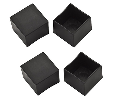 National Hardware S846-024 Stanley Leg Tips 1 Inch Square Black Vinyl Plastic 4 Pack