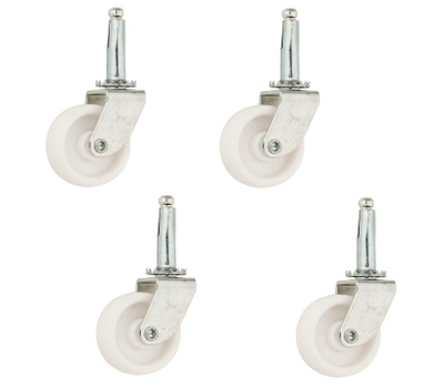National Hardware S846-255 Stanley Light Duty Stem Casters 1-1/4 Inch White 4 Pack