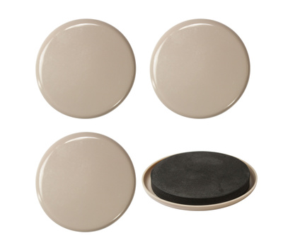 National Hardware S845-512 Stanley Furniture Sliders 3-1/2 Inch Round Gray 4 Pack
