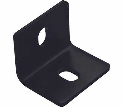 National Hardware N351-497 Square Corner Brace 2.4 By 3 By 3/16 Inch Black Finish Steel Bulk