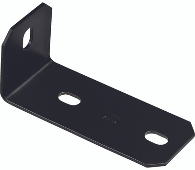 National Hardware N351-499 Offset Leg Corner Brace 6.8 By 3 By 3 By 3/16 Inch Black Finish Steel Bulk