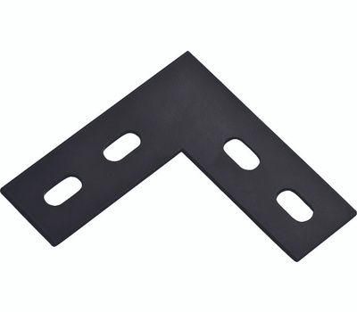 National Hardware N351-504 Flat Corner Plate 4-1/2 By 1-1/2 By 1/8 Inch Black Steel