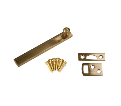 National Hardware N287-018 4 Inch Solid Brass Surface Bolt Polished Brass