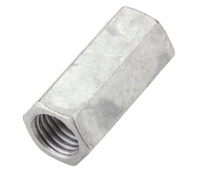 National Hardware N182-726 Threaded Rod Coupler 3/4 Inch 10 TPI Galvanized Steel