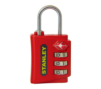 National Hardware S822-009 Stanley TravelMax TSA Approved 3 Digit Luggage Padlock 1-3/16 Inch (30Mm) Wide Red