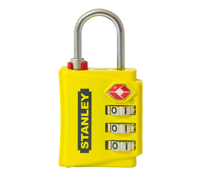 National Hardware S822-013 Stanley TravelMax Tsa Approved 3 Digit Luggage Padlock 1-3/16 Inch (30mm) Wide Yellow