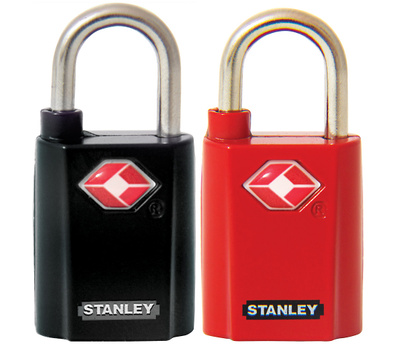 National Hardware S822-065 Stanley TravelMax TSA Approved 3/4 Inch Keyed Luggage Padlocks 2 Pack