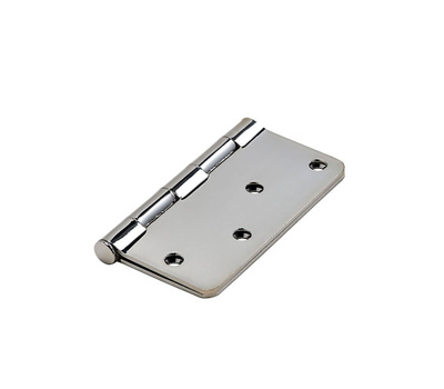 National Hardware N830-183 Door Hinge 4 Inch 1/4 Radius Polished Chrome