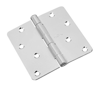 National Hardware N830-237 Door Hinge 4 Inch 1/4 Radius Satin Chrome