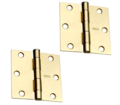 National Hardware S080-100 Stanley Removable Pin Broad Hinge 2-1/2 Inch Satin Brass 2 Pack