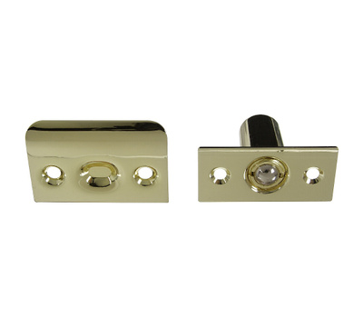 National Hardware N830-281 N239-129 N239-111 Adjustable Ball Catch With Plate 1 By 2-1/8 Inch Polished Brass