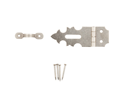 National Hardware N211-016 Decorative Hasp 5/8 By 1-7/8 Inch Satin Nickel Plated Steel