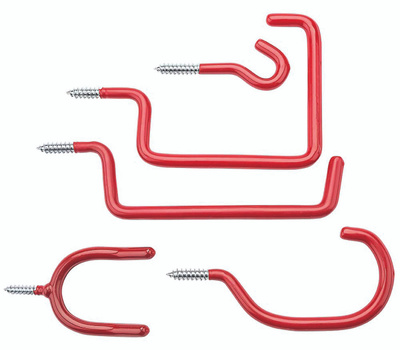 National Hardware N112-036 10 Piece Home Hook Assortment Steel With Red Vinyl Coating
