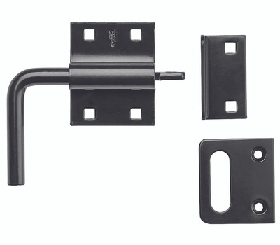 National Hardware N100-056 Slide Bolt For Swinging Or Sliding Doors And Gates Black