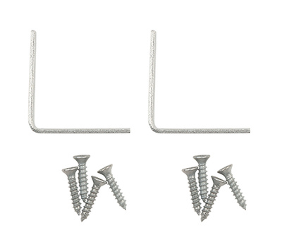 National Hardware N236-030 S756-114 Corner Braces 1-1/2 By 5/8 By 0.08 Inch Galvanized Steel 2 Pack