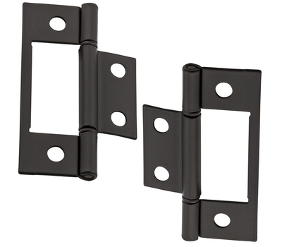 National Hardware N830-434 Bi-Fold Non Mortise Door Hinges 3 Inch Oil Rubbed Bronze On Steel 2 Pack