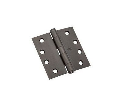 National Hardware N236-122 Commercial Door Hinge 4 Inch Square Corner Oil Rubbed Bronze