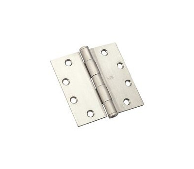National Hardware N236-152 Commercial Door Hinge 4-1/2 Inch Square Corner Satin Stainless Steel