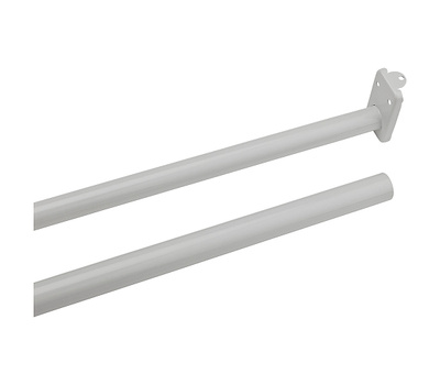 National Hardware N236-204 S193-040 Adjustable Closet Rod With Ends 30 Inch To 48 Inch Steel Painted White