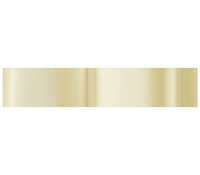 National Hardware N244-053 Kick Plate 6 By 30 Inch Bright Brass Anodized Aluminum