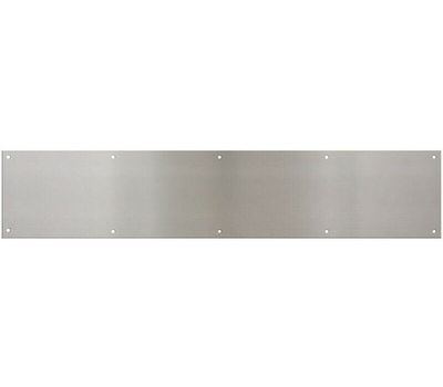 National Hardware N270-314 Kick Plate 6 By 30 Inch Satin Nickel Anodized Aluminum