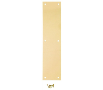 National Hardware N270-500 Plate Push Brass 3-1/2 By 15In