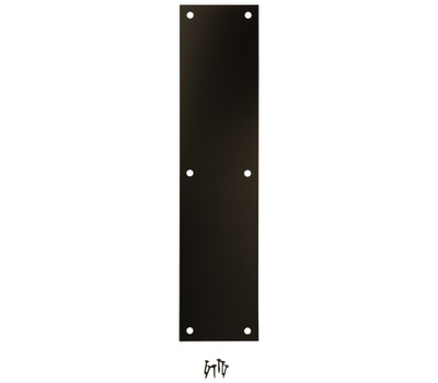 National Hardware N270-502 Push Plate 3-1/2 By 15 Inch Oil Rubbed Bronze Anodized Aluminum