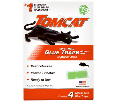Tomcat 0362710 Trap Glue Mouse Super Hold 4pk