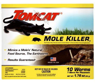 Tomcat 0372310 Mole Killer Worm Bait Box 10pk