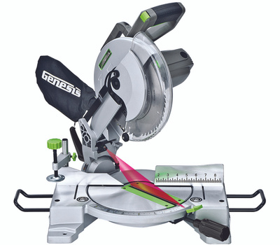 RichPower GMS1015LC Genesis 10 Inch 15 Amp Compound Miter Saw With Laser Guide And 9 Positive Stops