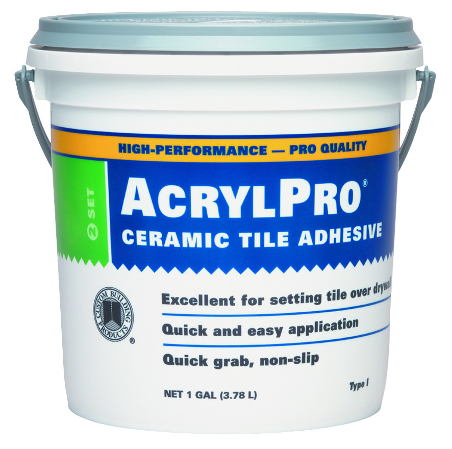 Custom Building Products Arl40001 2 Acrylpro Gallon White Ceramic