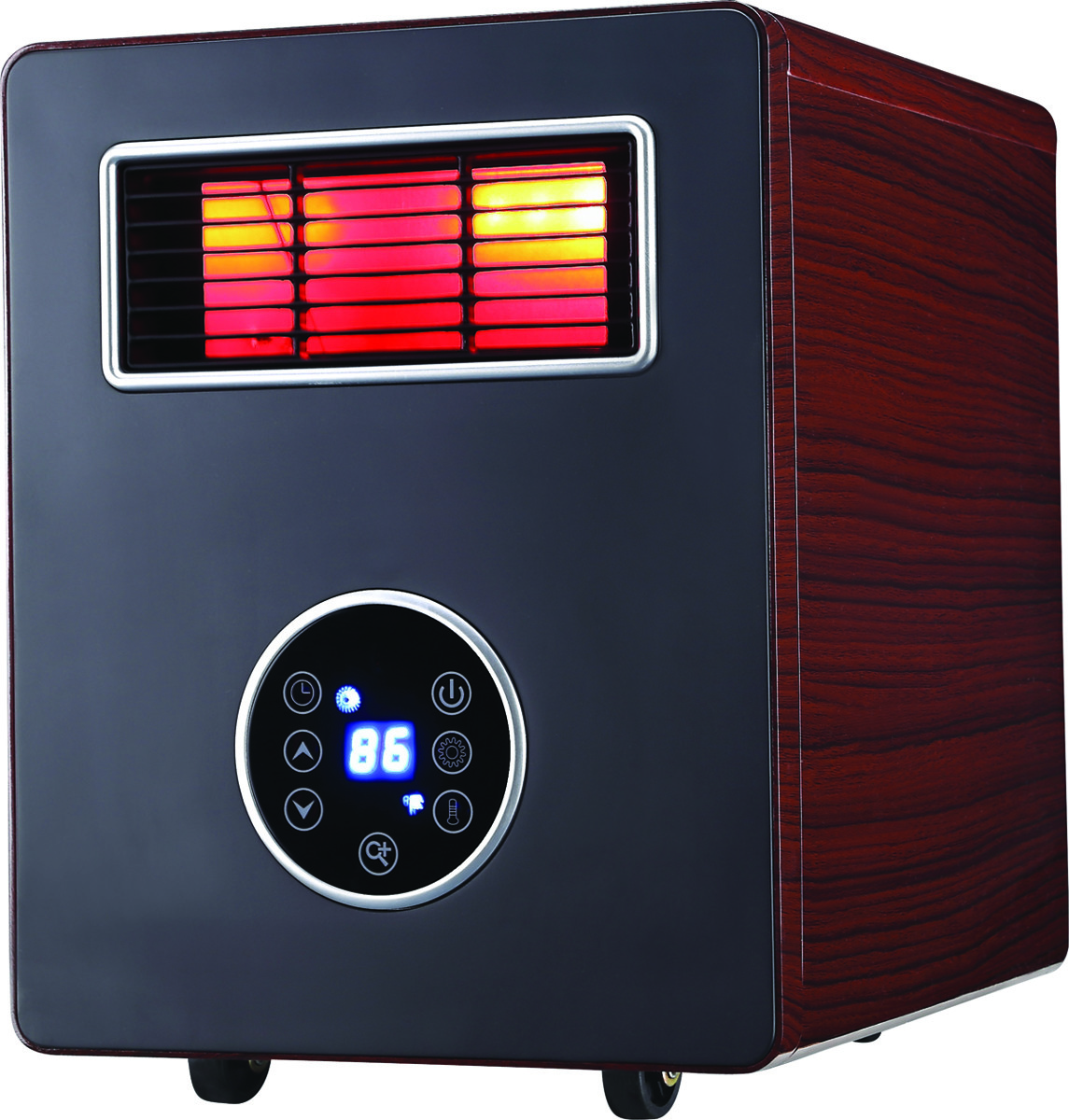 Heater World World Marketing CDE4800 Electric Heater With Advanced PTC Ceramic Heating  Process Wood Grain Cabinet (013204248000) [1]