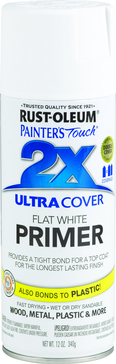 Rust-Oleum 249058 Painters Touch 2X White Primer Ultra Cover 2X Primer Spray