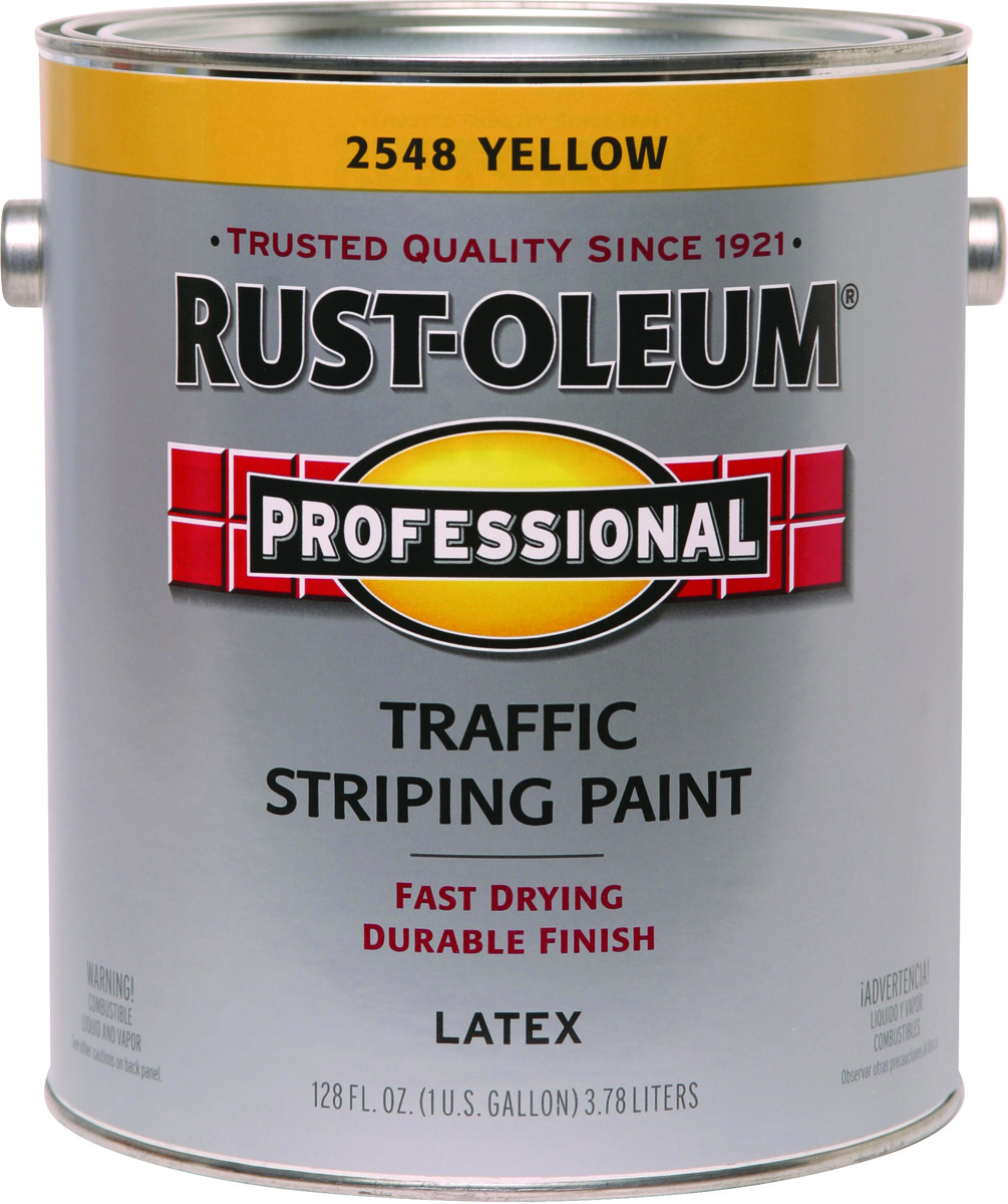 Rust Oleum 2548402 Professional Traffic Yellow Traffic Striping ...