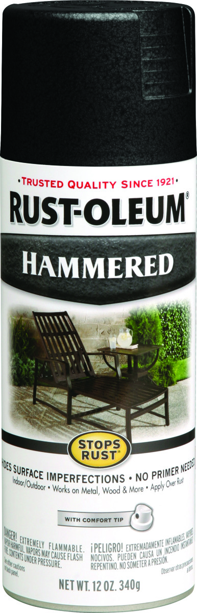 Rust Oleum 7215830 Stops Rust Black Hammered Spray Paint