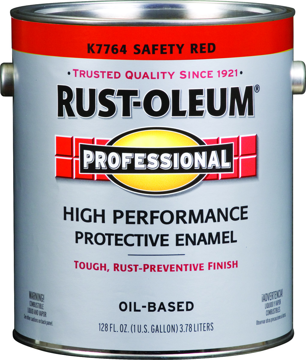 Rust Oleum K7764402 Professional Safety Red Direct To Metal Gallon 400 Voc Alkyd Enamel