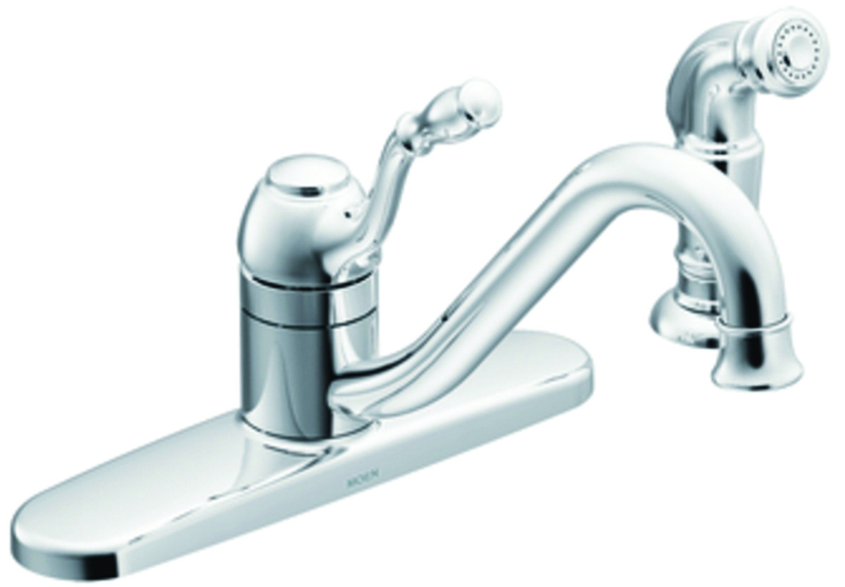 Moen Ca87009 Lindley Single Handle Kitchen Faucet With Side Spray