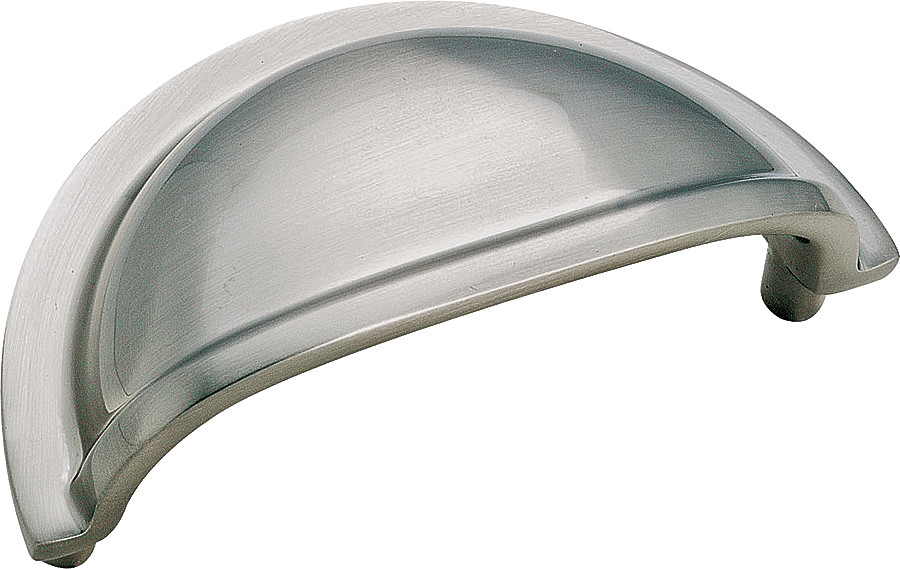 Hardware Cabinet Sterling Nickel Amerock Bp4235g9 Advantage Solid Br Cup Pull 3 1 4 Inch