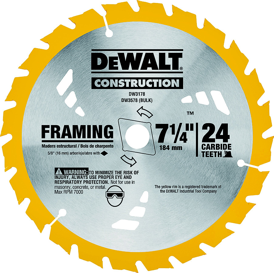 Dewalt dw3178 dw3578 series 20 8 14 inch 24 tooth carbide framing hover to zoom greentooth Choice Image