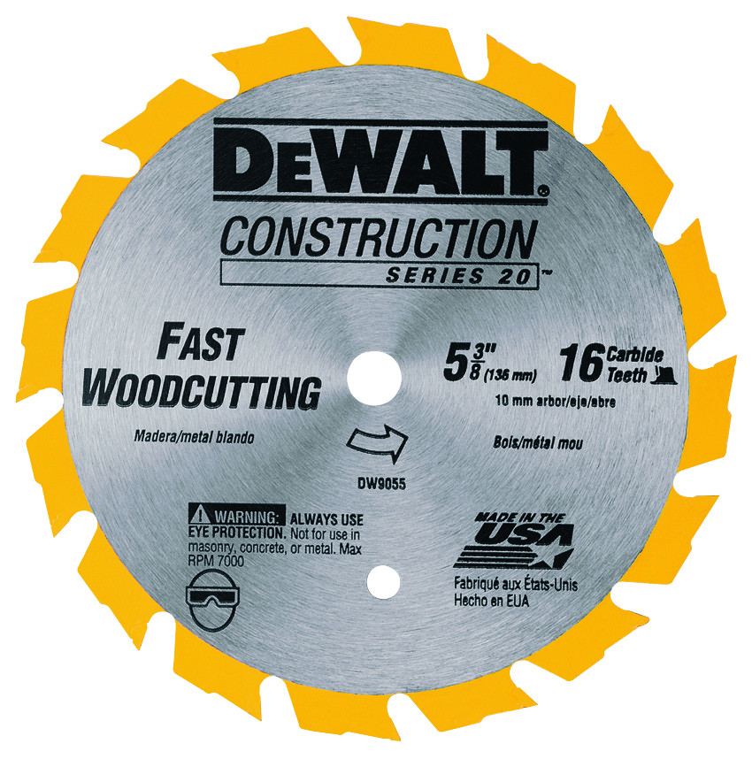Dewalt dw9055 5 38 inch 16 tooth frame circular saw blade hover to zoom greentooth Choice Image